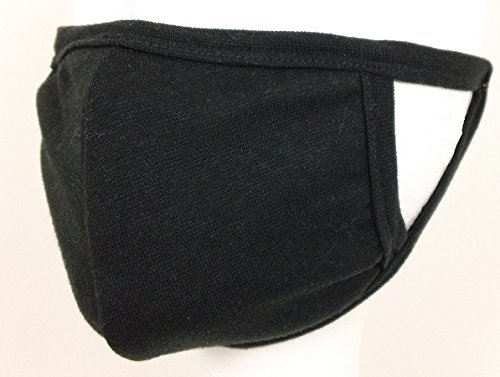 Basic Black Cold and Flu Mask with High Efficiency Carbon Fi
