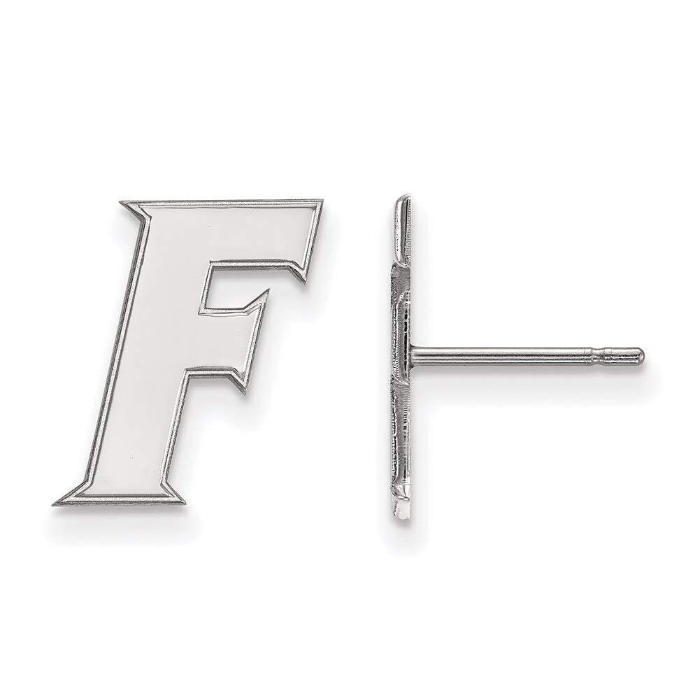 Lex /& Lu LogoArt 10k White Gold University of Florida Small Post Earrings LAL129774