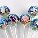 美しすぎて食べられない!3D 【 海の貝殻キャンディー】 3D sea shells lollipops (6個パック) [並行輸入品]