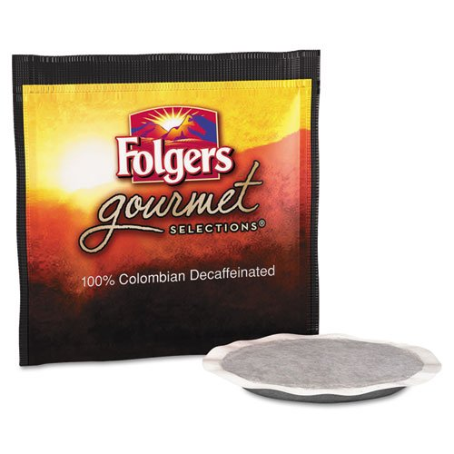 Colombia Decaffeinated Coffee - Folgers FOL63101 Gourmet Selection Colombian Decaffeinated Coffee Pods (Pack of 18)