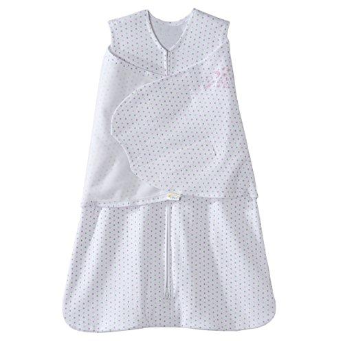 Halo SleepSack 100% Cotton Swaddle, Pink and Grey Dot, Newborn