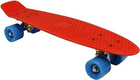 plastica Retro Anni 70 Charles Bentley Mini Skateboard Bambini Disponibile in 11 Colori 59 cm