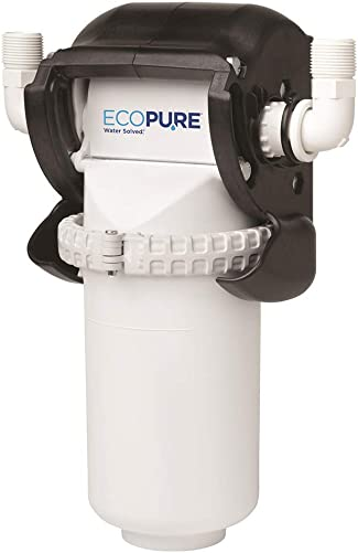 EcoPure EPWHE No Mess Whole Home Water Filtration System-Automatic Bypass-Made in USA-Encapsulated Make Filter Change a Snap
