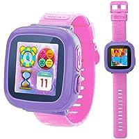 Juego Smart Watch para niños y niñas con cámara de 1.5 pulgadas táctil, 10juegos, podómetro, cronómetro, reloj despertador, reloj de pulsera de juguete y monitor de salud