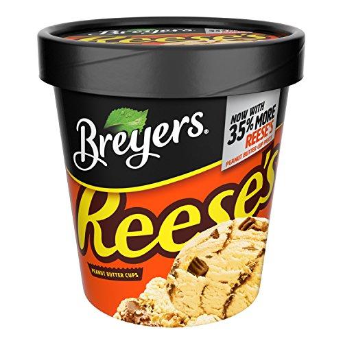 Heath Bar Ice Cream - Breyers, Reese's Peanut Butter Cups Ice Cream, Pint (8 Count)