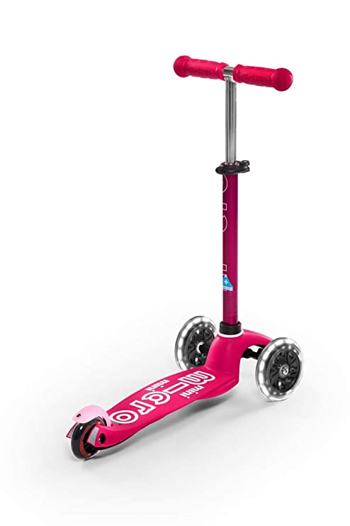 Micro Kickboard - Mini Deluxe LED 3-Wheeled, Lean-to-Steer, Swiss-Designed Micro Scooter for Preschool Kids with LED Light-up Wheels, Ages 2-5