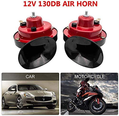 1 Paire Double Tonalit/é Moto Camion Voiture V/élo 125DB 12v LOOMBNB Klaxon /à Air Haute Parleur