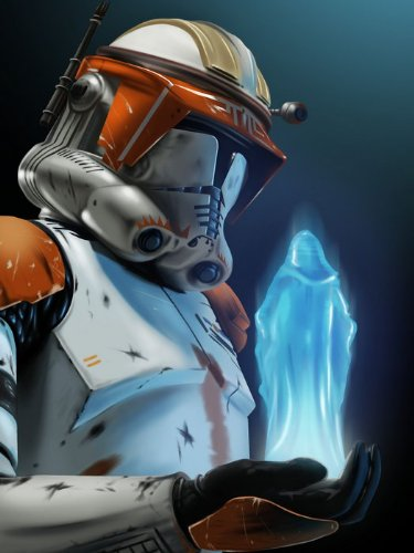 Order 66 Emperor Palpatine Hologram Communicator Clone Star Wars Art Print Poster