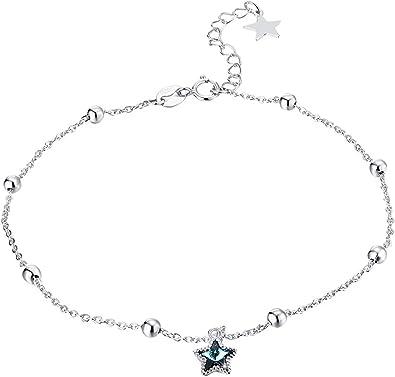 Bracelet De Cheville Argent  Chaine De De Cheville Ideal Pour Femme Filles Mariage Soiree
