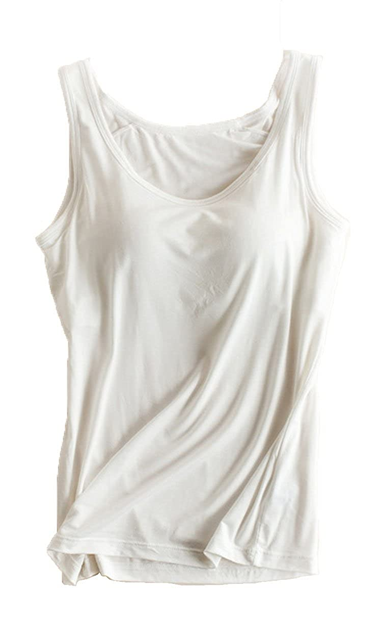 8a1919a95b602 Foxexy Womens Modal Built-in Bra Padded Active Strap Camisole Yoga Tanks  Tops  Amazon.ca  Luggage   Bags