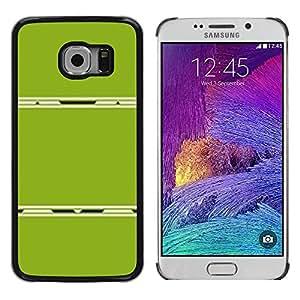 PC/Aluminum Funda Carcasa protectora para Samsung Galaxy S6 EDGE SM-G925 Abstract Plastic Minimalist Lines / JUSTGO PHONE PROTECTOR