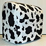 Penny's Needful Things Black & White Cowhide Cover Compatible for Kitchenaid Stand Mixer (All Cowhide, 4.5/5qt Tilt Head)