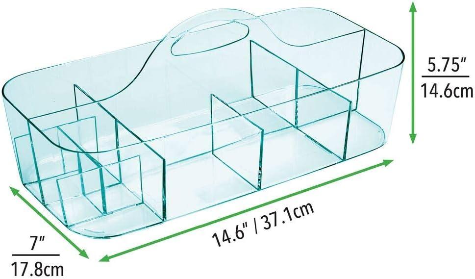 caja organizadora para cocina o toallero mDesign Cesta de ba/ño con asa Para usar como organizador de cosm/éticos Cesta para ducha peque/ña en pl/ástico resistente lila