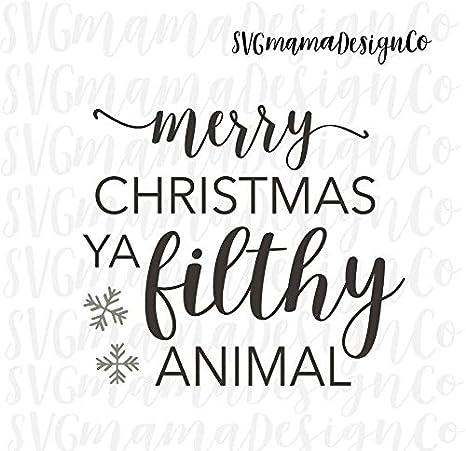 Merry Christmas Ya Filthy Animal Svg.Amazon Com Pene Merry Christmas Ya Filthy Animal Decal