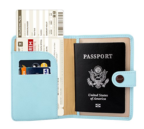 Zoppen Rfid Blocking Travel Passport Holder Cover Slim Id Card Case (#3 Paradise Blue)