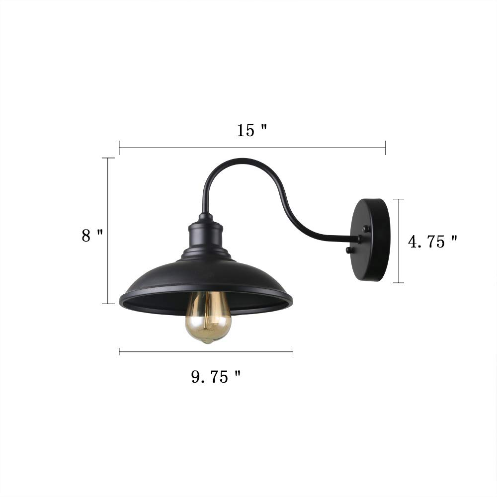 Giluta 2 Pack Industrial Wall Sconce Light Rustic Vintage Wall Lighting Fixture With Metal Shade Indoor Antique Edison Wall Lamp For Living Room Bedroom Bathroom Farmhouse Buy Online In India At Desertcart In