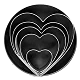Fox Run 3680 Heart Cookie Cutter Set, Stainless Steel, 5-Piece