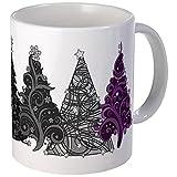 CafePress - Asexual Christmas Trees Mugs - Unique Coffee Mug, Coffee Cup