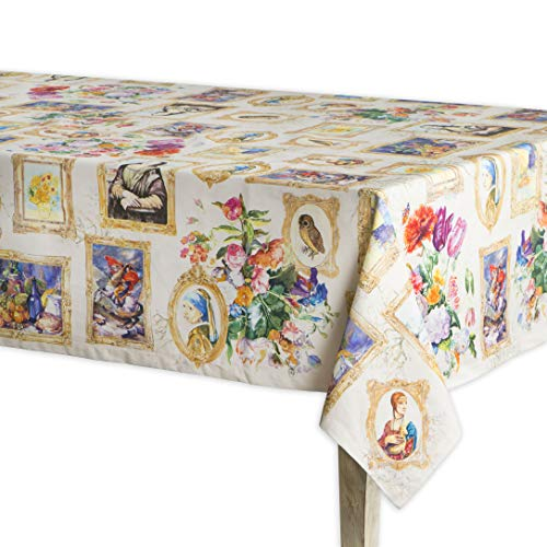 Maison d' Hermine Masterpiece 100% Cotton Tablecloth 60 Inch by 120 Inch (Best Art Galleries In Europe)