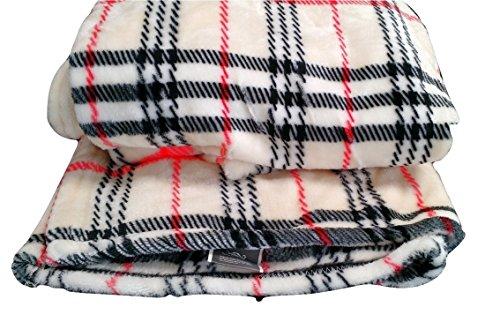 Tache 50x 60 Inch Super Soft Tartan Plaid Salmon Run Flannel Throw Blanket