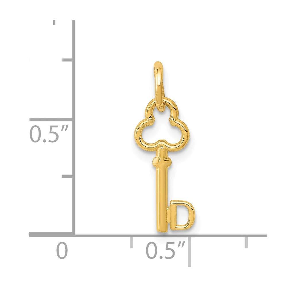 14k Yellow Gold D Key Charm Million Charms MCQGK3442D