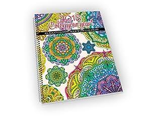 Amazon.com : 2018 Calendar - Adult Coloring Calendar/Planner ...