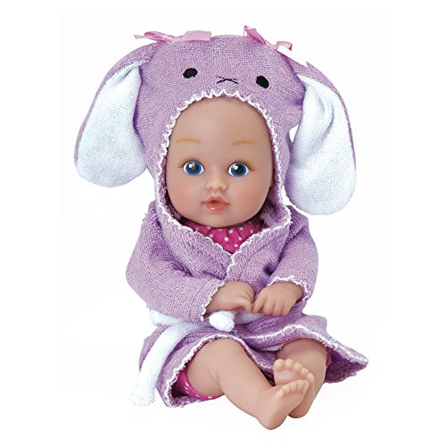 "Adora BathTime Baby Tot ""Bunny"" small 8.5 Inch washable BathTub Water Safe Soft Body Vinyl Fun Play Toy Doll for Boy or Girl Children and Toddlers 1 Year Old and ()"