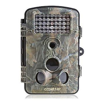 CCbetter - 2,4 pulgadas de 12 megapíxeles (MP 12) 1080P HD 120 grados de ancho cámaras de vigilancia del ángulo de la cámara a prueba de agua IP54 De caza del juego del rastro con LEDs 42 piezas IR para visión nocturna,