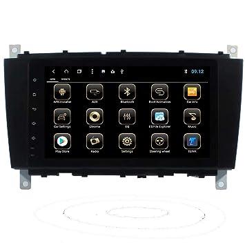 TOPNAVI Octa Core Android 8.1 Unidad de Cabezal Estéreo de Coche para Benz Clase C W203