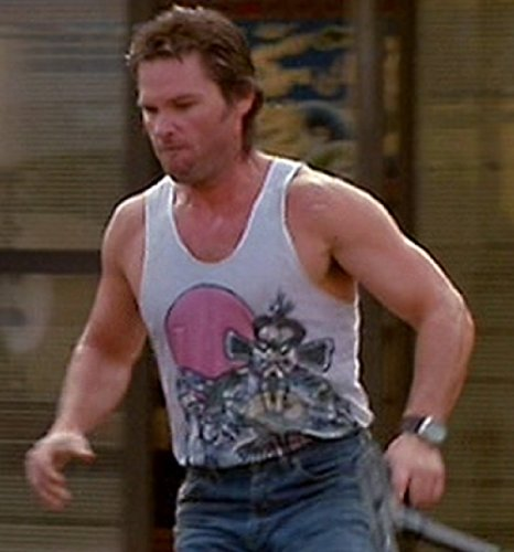 Mens white big trouble in little china vest buy online for Big trouble in little china jack burton shirt