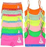 ToBeInStyle Girls' Pack of 6 Set of Matching Bras & Boyshorts (Medium (Ages 7-11), Frozen Flower Magic)
