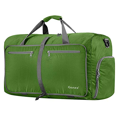 (Gonex 80L Packable Travel Duffle Bag, Large Lightweight Luggage Duffel (Green))