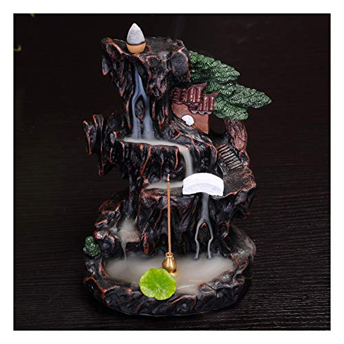 (Mikilon Ceramic Waterfall Backflow Incense Burner Incenser Holder Home Decor Aromatherapy Ornament (Rockery))