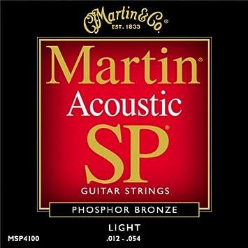 Martin MSP4100 - Juego de cuerdas para guitarra acústica de fósforo/bronce.012-0.054