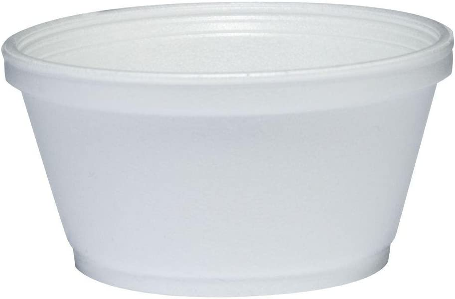 DART Foam Container, 1000/Carton, 8 oz, White