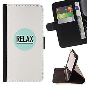 Momo Phone Case / Flip Funda de Cuero Case Cover - Relájese cotización positiva lema de la inspiración - Huawei Ascend P8 Lite (Not for Normal P8)
