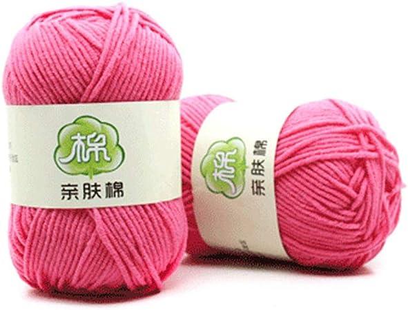 GETMORE7 Ovillo de Lana de algodón, 1 Pieza de Lana de Crochet Tradicional de algodón para Tejer, 50 g, Manualidades para bebé: Amazon.es: Hogar