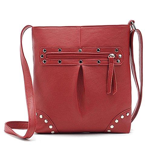 Women Handbag - Allyou PU Leather Shoulder Ba…