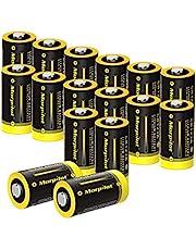 morpilot CR123A Batterijen Set van 16, 1500mAh 3V Lithium CR17345 Hoogwaardige Wegwerpbatterijen voor Zaklampen, Microfoons, Flitsers, Speelgoed enz. Niet Compatibel met Sommige Arlo