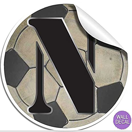 Amazon Com Wall Decals Letter N Soccer Ball Baby Name Decal