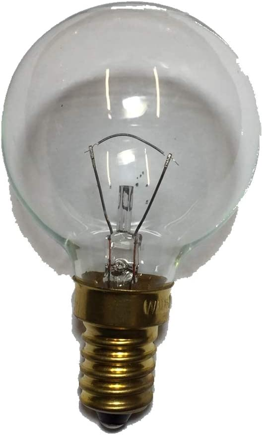 Bombilla de bajo voltaje, 24 V, casquillo E14, 25 W, forma de bola, para intermitentes basculantes