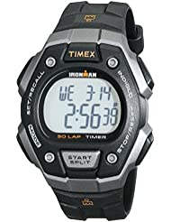 Timex Mens T5K821 Ironman Classic 30 Black/Orange Resin Strap Watch