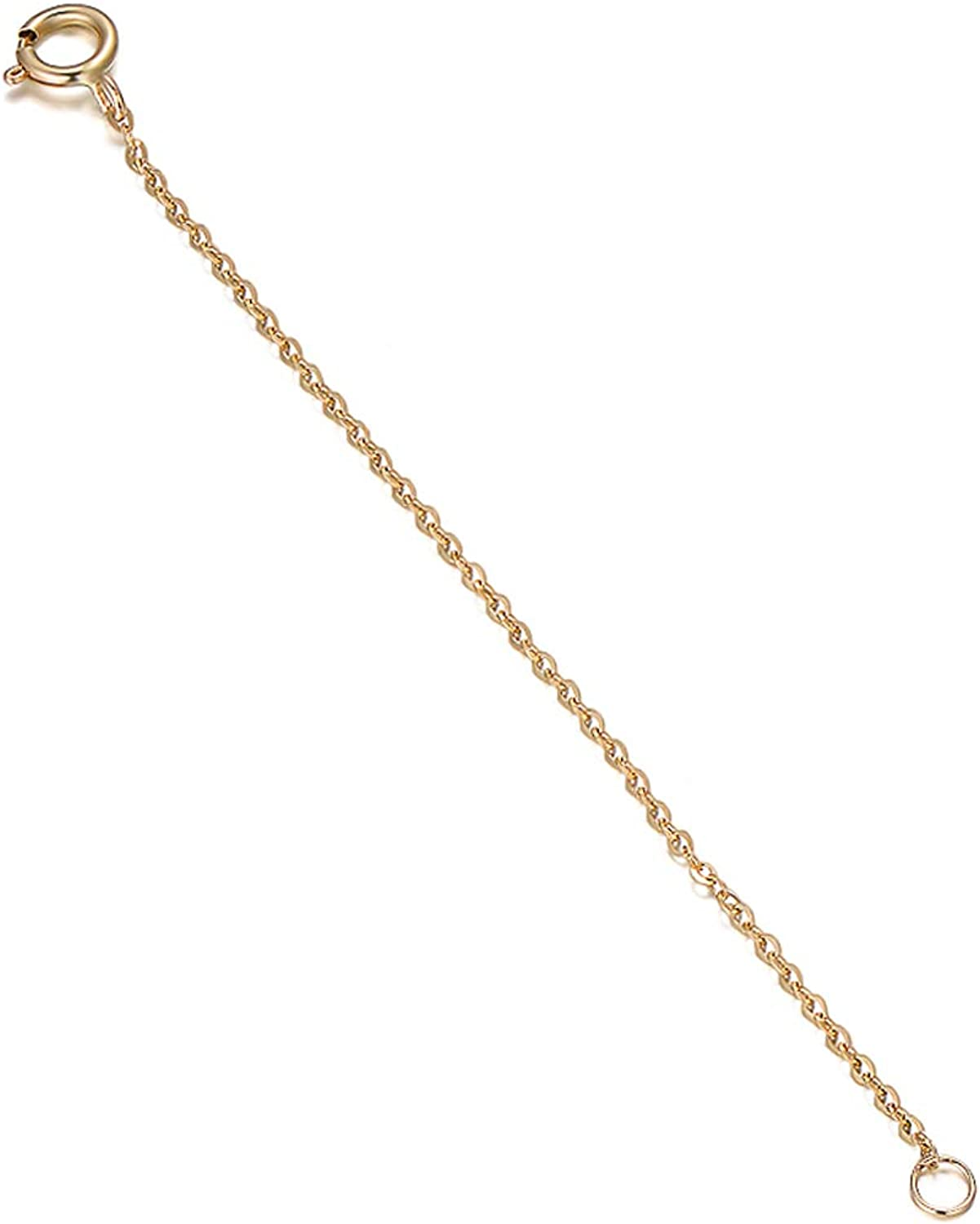 9ct Gold Extender Safety Chain For Necklace//Bracelet Anklet Extension 2 Inches