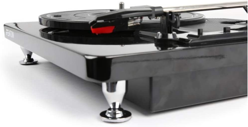 Finition Noir//Chrome Fenton RP120 Platine Disque Piano