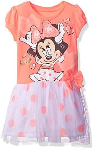 Disney Toddler Girls' Minnie Mouse Dress with Tulle Overlay