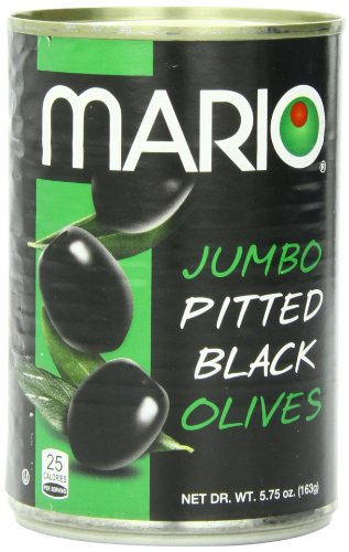 Olives Pitted Black Medium (Mario Camacho Foods Black Olives, Jumbo Pitted, 5.75 Ounce (Pack of 12))