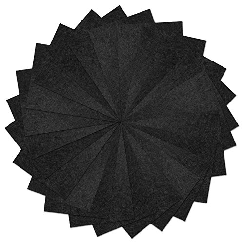 25 Pack - Self Adhesive Black Crafting Felt Fabric - 8 x 12 Inches - Perfect for Holiday -