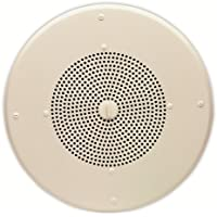 Valcom V-1220 One Way Amplified Dual Input Ceiling Speaker, 8-Inch