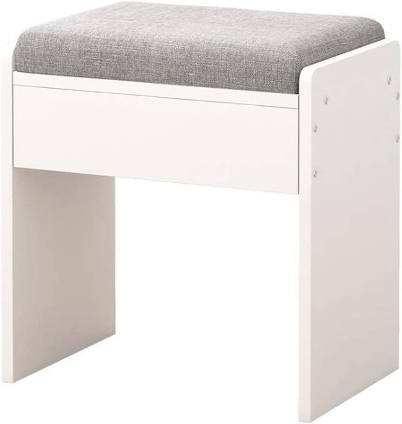 Yoosc Modern Simplicity Dressing Table Stool Makeup Seat Baroque Piano Chair Vanity Stool Dresser Vanity Stool Piano Stool Cushioned Wooden Keyboard Bench Makeup Stool Footstool Bench (Color : Gray)