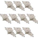 Choubao 10pcs Drawer knobs Floral Rose Knob Handle Kitchen Cupboard Cabinet Drawer Door Knobs Furniture Door knob Handles Pulls Hardware